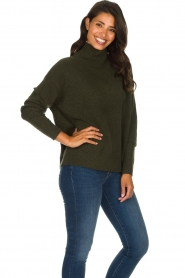 American Vintage |  Turtleneck sweater Damsville | green  | Picture 5