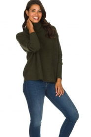 American Vintage |  Turtleneck sweater Damsville | green  | Picture 2