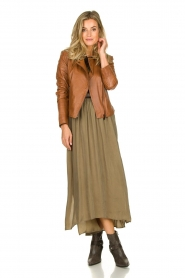 American Vintage    Maxi skirt Nonogarden   olive green    Picture 2