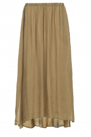 American Vintage |  Maxi skirt Nonogarden | olive green  | Picture 1