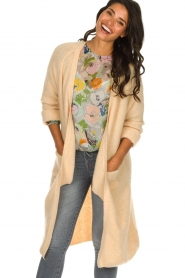 American Vintage |  Basic cardigan Woxilen | beige  | Picture 4
