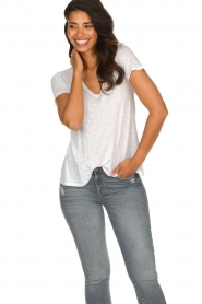 American Vintage |  Basic T-shirt Kobibay | white  | Picture 3