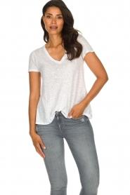 American Vintage |  Basic T-shirt Kobibay | white  | Picture 2