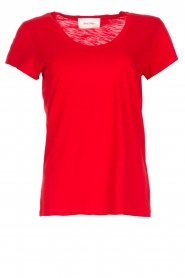 American Vintage |  Basic T-shirt Jacksonville | red  | Picture 1