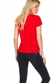 American Vintage |  Basic T-shirt Jacksonville | red  | Picture 4