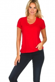 American Vintage |  Basic T-shirt Jacksonville | red  | Picture 2