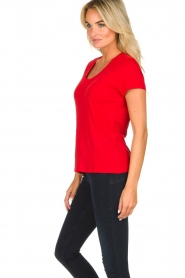 American Vintage |  Basic T-shirt Jacksonville | red  | Picture 3