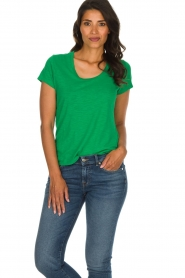 American Vintage |  Basic T-shirt Jacksonville | green  | Picture 2