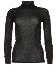 American Vintage |  Turtle neck sweater Massachusetts | black  | Picture 1