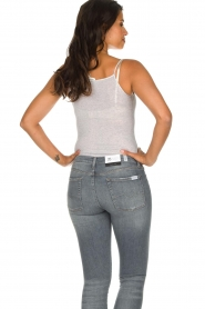 American Vintage |  Sleeveless cotton top Massachusetts | grey  | Picture 5