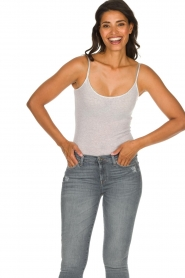 American Vintage |  Sleeveless cotton top Massachusetts | grey  | Picture 3