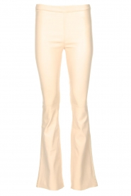 Est-Seven |  Flared leather stretch pants Meredith | nude   | Picture 1