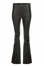 Est-Seven |  Flared leather stretch pants Meredith | black  | Picture 1