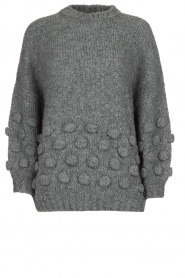 Rabens Saloner |  Knitted sweater Begiita | grey  | Picture 1