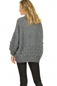 Rabens Saloner |  Knitted sweater Begiita | grey  | Picture 6