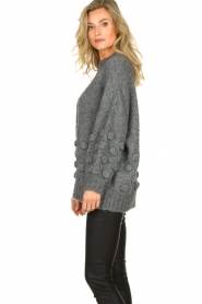 Rabens Saloner |  Knitted sweater Begiita | grey  | Picture 5