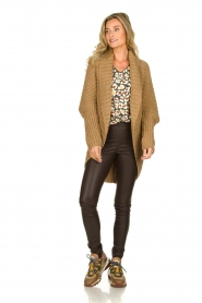 Rabens Saloner | Knitted cardigan Becky | camel  | Picture 3