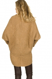 Rabens Saloner : Knitted cardigan Becky | camel - img5