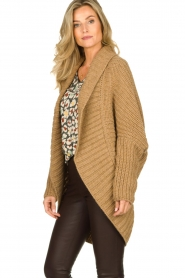 Rabens Saloner : Knitted cardigan Becky | camel - img4