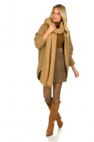 Rabens Saloner : Knitted cardigan Becky | camel - img3