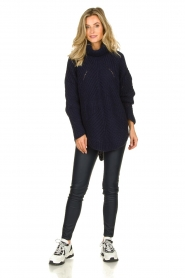 Rabens Saloner |  Ajour sweater Beate | blue  | Picture 3