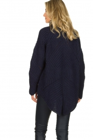 Rabens Saloner |  Ajour sweater Beate | blue  | Picture 5