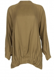 Rabens Saloner | Top with pleated details Aloha | green  | Picture 1
