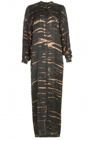 Rabens Saloner | Maxi-dress with print Lisen | grey  | Picture 1