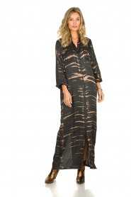 Rabens Saloner | Maxi-dress with print Lisen | grey  | Picture 6