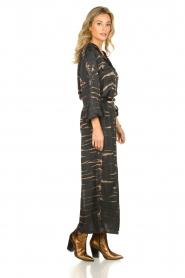 Rabens Saloner | Maxi-dress with print Lisen | grey  | Picture 4