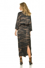 Rabens Saloner | Maxi-dress with print Lisen | grey  | Picture 5