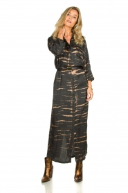 Rabens Saloner | Maxi-dress with print Lisen | grey  | Picture 2
