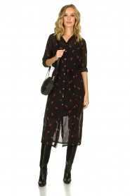 Freebird |  Dress with print Helen | black  | Picture 2