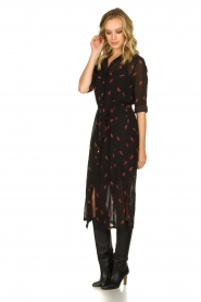 Freebird |  Dress with print Helen | black  | Picture 4