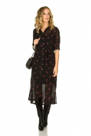 Freebird |  Dress with print Helen | black  | Picture 3