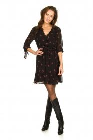 Freebird |  Dress with print Izabel | black  | Picture 3