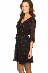 Freebird |  Dress with print Izabel | black  | Picture 4