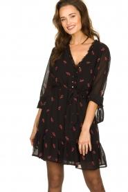 Freebird |  Dress with print Izabel | black  | Picture 2