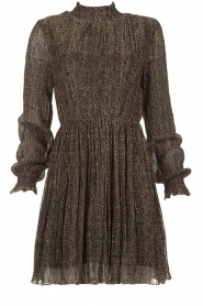 Freebird |  Dress with leopard print Katie | brown  | Picture 1