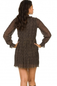 Freebird |  Dress with leopard print Katie | brown  | Picture 7