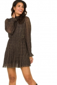 Freebird |  Dress with leopard print Katie | brown  | Picture 2