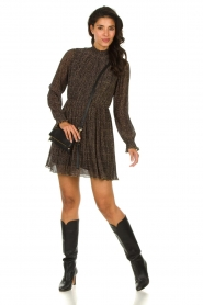 Freebird |  Dress with leopard print Katie | brown  | Picture 3