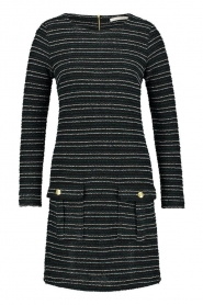 Freebird | Bouclé dress with lurex details Lizzy | black  | Picture 1