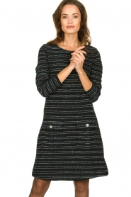 Freebird | Bouclé dress with lurex details Lizzy | black  | Picture 4