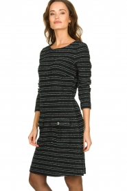 Freebird | Bouclé dress with lurex details Lizzy | black  | Picture 5