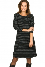 Freebird | Bouclé dress with lurex details Lizzy | black  | Picture 2