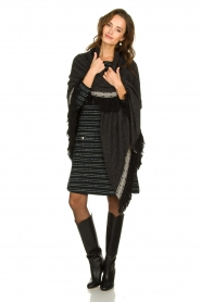 Freebird | Bouclé dress with lurex details Lizzy | black  | Picture 8