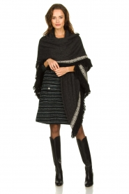 Freebird | Bouclé dress with lurex details Lizzy | black  | Picture 3