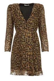 Freebird |  Dress with leopard print Evia | brown  | Picture 1