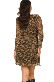 Freebird |  Dress with leopard print Evia | brown  | Picture 6